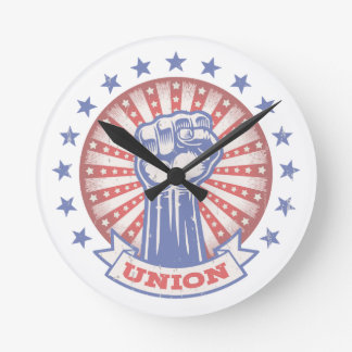 Union Fist 817 Round Clock