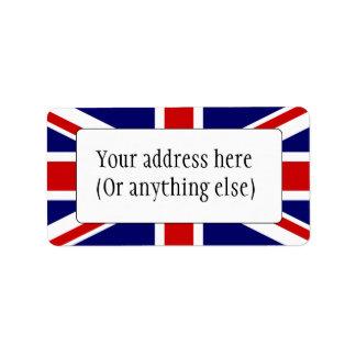 Union Flag Address Label