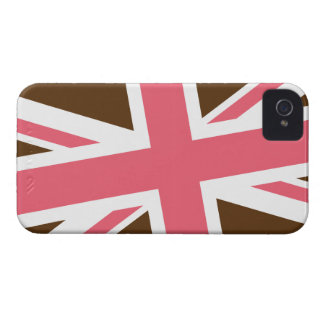 Union Flag Blackberry Case (Brown/Pink)