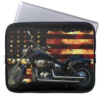 Union Flag, Civil War, Motorcycle, Hog Laptop Sleeve