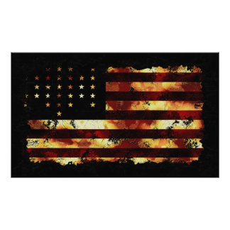 Union Flag, Civil War, Stars and Stripes, USA Poster