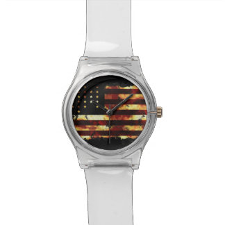 Union Flag, Civil War, Stars and Stripes, USA Wristwatch