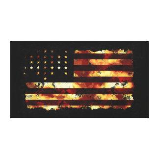 Union Flag, Civil War, Stars & Stripes, USA Gallery Wrap Canvas