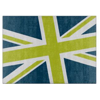 Union Flag Cutting Board (Navy/Lime)