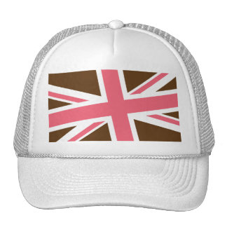 Union Flag Hat (Brown/Pink)