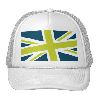 Union Flag Hat (Navy/Lime)