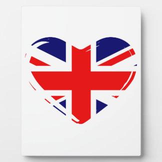 Union Flag Heart Photo Plaque