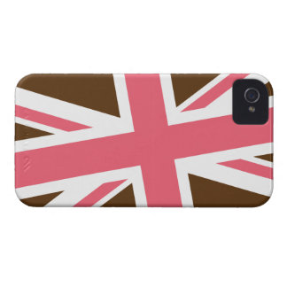 Union Flag iPhone Case (Brown/Pink) iPhone 4 Covers
