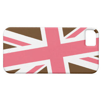 Union Flag iPhone Case (Brown/Pink) iPhone 5 Case