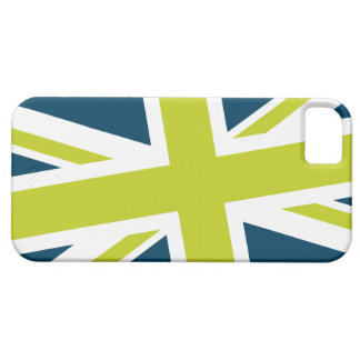 Union Flag iPhone Case (Navy/Lime) iPhone 5 Covers