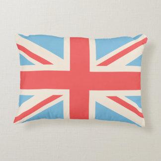 Union Flag/Jack Design Cream, Light Blue & Red Decorative Cushion