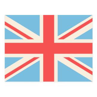 Union Flag/Jack Design Cream, Light Blue & Red Post Card