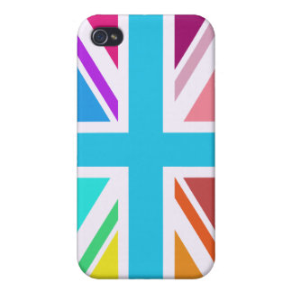 Union Flag/Jack Design - Multicoloured iPhone 4 Cover