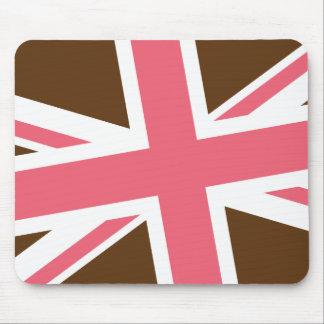Union Flag Mousepad Brown Pink