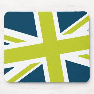 Union Flag Mousepad Navy Lime