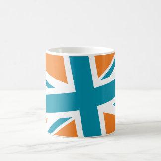Union Flag Mug Orange Teal