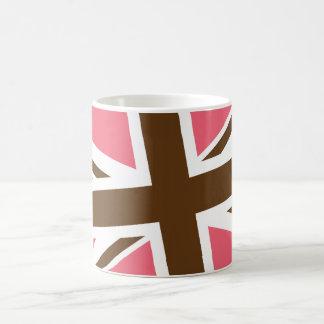 Union Flag Mug Pink Brown