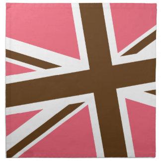 Union Flag Napkins Set/4 (Pink/Brown)