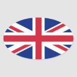 Union Flag Oval Sticker