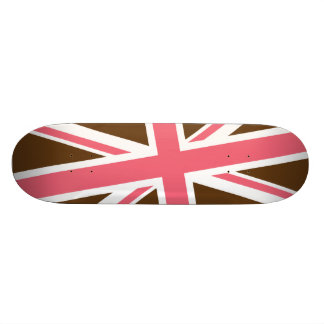 Union Flag Skateboard (Brown/Pink)