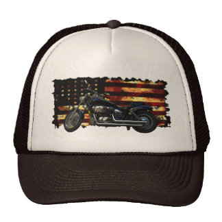 Union Flag, Stars and Stripes, Motorcycle, Hog Cap