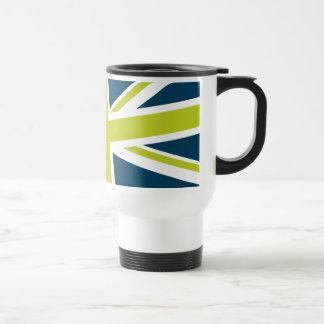 Union Flag Travel Mug (Navy/Lime)