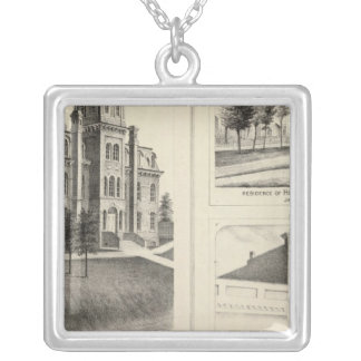 Union High School, residence & Jackson County Bank Square Pendant Necklace