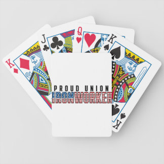 Union Ironworker Bicycle Playing Cards