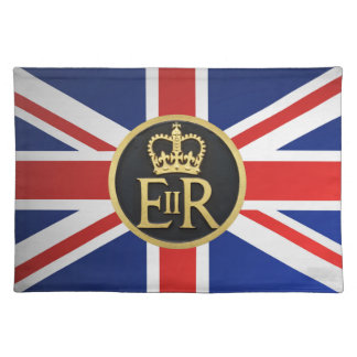 Union Jack and the Royal Jubilee Insignia. Cloth Place Mat