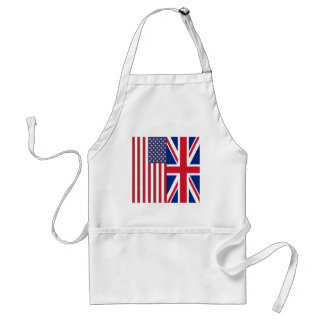 Union Jack And United States of America Flags Standard Apron