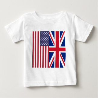 Union Jack And United States of America Flags Baby T-Shirt