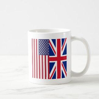 Union Jack And United States of America Flags Mug