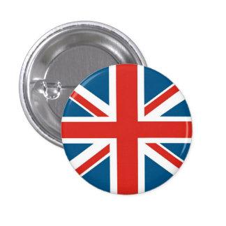 union jack 3 cm round badge