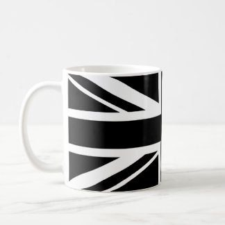 Union Jack ~ Black and White Coffee Mug