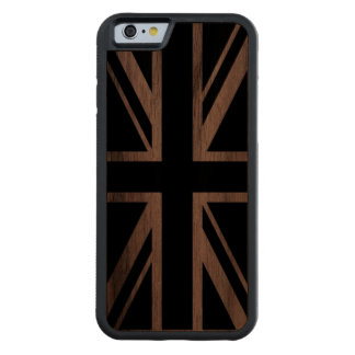 Union Jack | Black on Wooden Carved® Walnut iPhone 6 Bumper Case