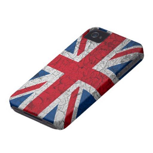 Union Jack Blackberry covering iPhone 4 Case-Mate Case
