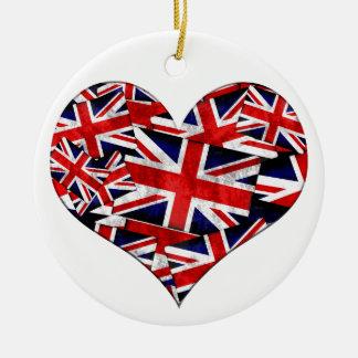Union Jack British England UK Flag Ceramic Ornament