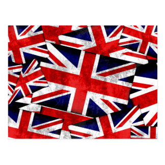 Union Jack British England UK Flag Postcard