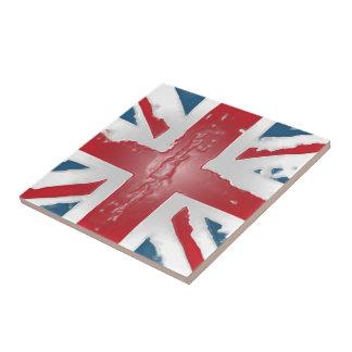 Union Jack British Flag Abstract Wax Art Tile