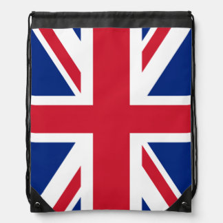 Union Jack British Flag Drawstring Backpack