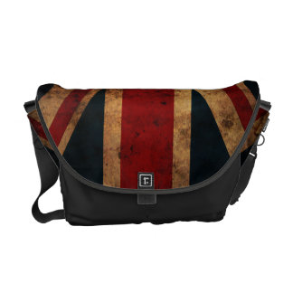Union Jack (British Flag, grunge) Commuter Bags