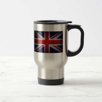 Union Jack British Flag Image on Stainless Steel Travel Mug