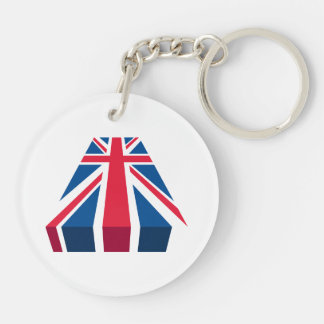 Union Jack, British flag in 3D Key Chains
