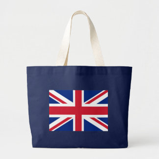 Union Jack British Flag Large Tote Bag