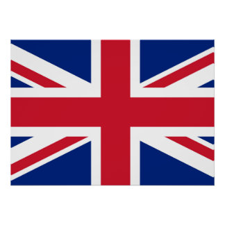 Union Jack British Flag Poster