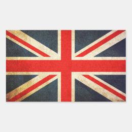 UK Flag Flower Car Stickers - Union Jack Sticker