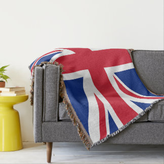 Union Jack British Flag Throw Blanket