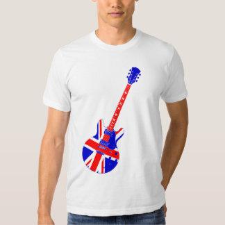 Union Jack British Guitar Art Shirt
