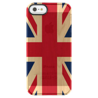 Union Jack British National Flag Clear iPhone SE/5/5s Case