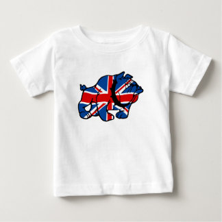 Union Jack Bulldog Baby T-Shirt